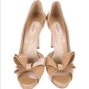 Authentic Valentino D'orsay Bow Pumps Sz 38